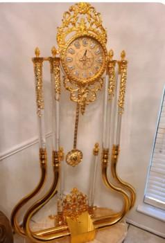 Floor clock Gold Brass by...