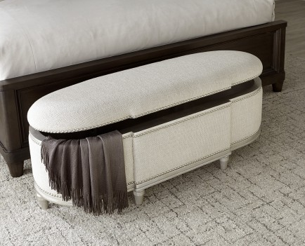 Bedside Bench Silver Finish...