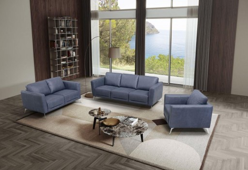 LV00212 Blue Leather Living...