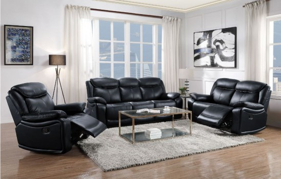 LV00060 Black Leather...