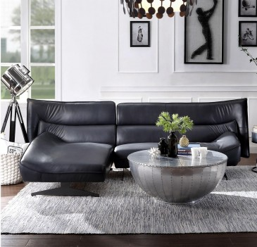 55060 Dark Gray Leather...