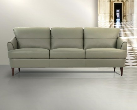54570 Moss Green Leather Living Room Contemporary Acme Furniture Collections