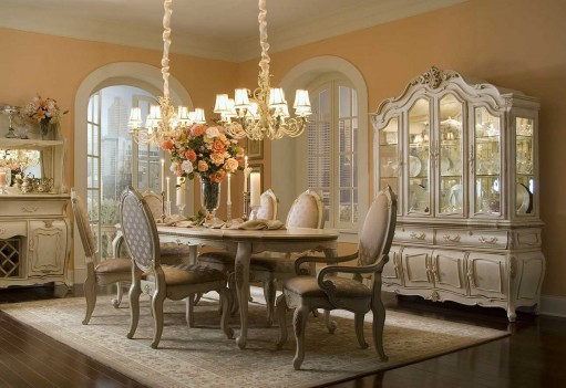 Aico Lavelle Blanc Dining Room Collection