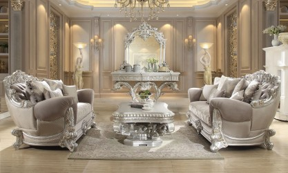 Living Rooms Victorian Style by Homey Design
