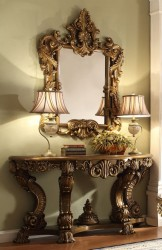 Console Table & Mirror Victorian Style by Homey Design
