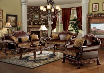 Dresden Cherry Oak Finish Collection By Acme Furniture