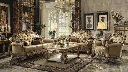 Vendome II Gold Patina Collection By Acme Furniture