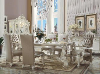 White Bone Finish Versailles Collection By Acme