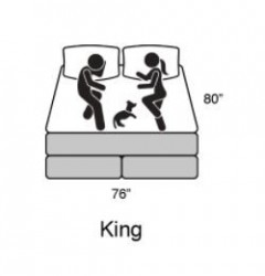 Eastern King Size Mattress  By Bed tech