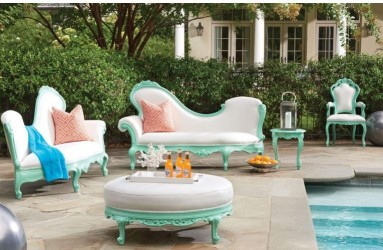 Fresh Mint Finish Out Door Furniture Collection By POLaRT Designs