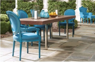 Cielo Blue Finish Out Door Furniture Collection By POLaRT Designs