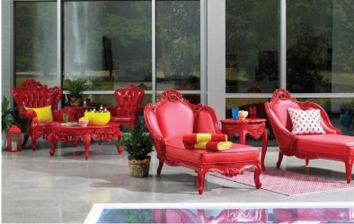 Monza Red Finish Out Door Furniture Collection By POLaRT Designs