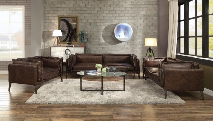 Stationary Leather  Sofas Contemporary Acme Furniture Collections